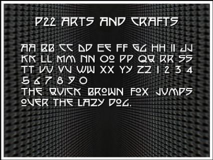 P22 Arts And Crafts Font Preview