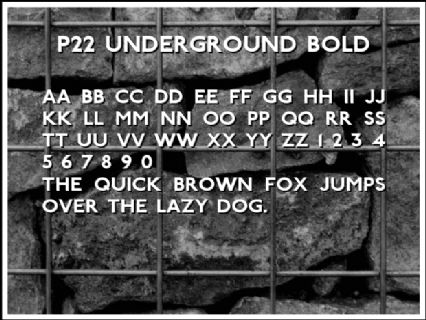 P22 Underground Bold Font Preview