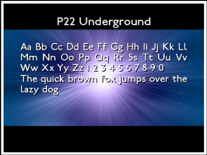 P22 Underground Font Preview