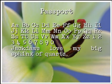 Passport Font Preview