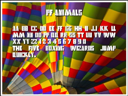 pf animals Font Preview