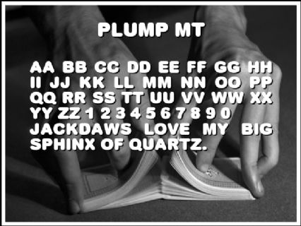 Plump MT Font Preview
