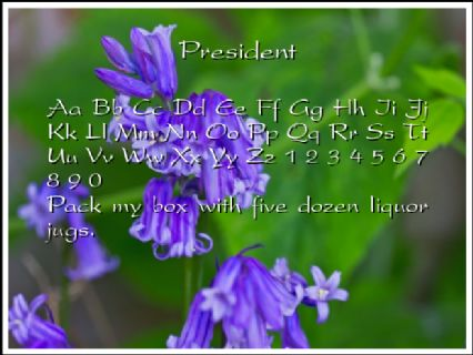 President Font Preview