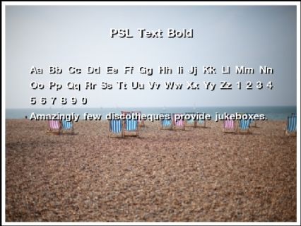 PSL Text Bold Font Preview