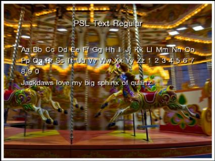PSL Text Regular Font Preview