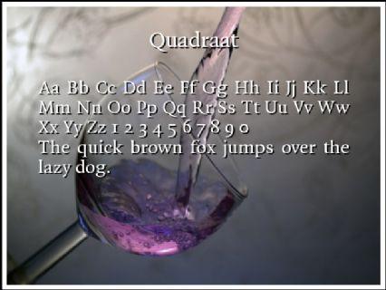 Quadraat free font download.