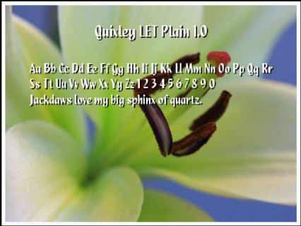 Quixley LET Plain 1.0 Font Preview
