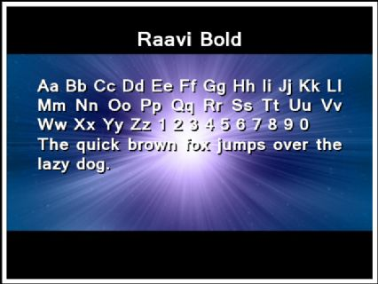 Raavi Bold Font Preview