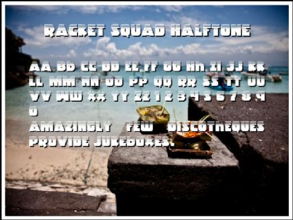 Racket Squad Halftone Font Preview
