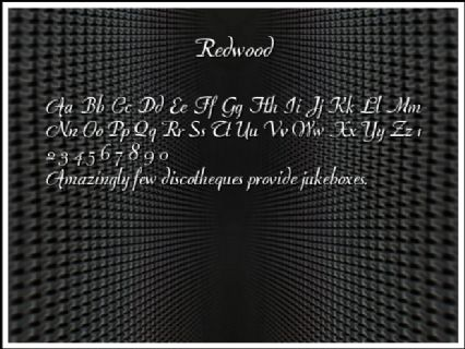 Redwood Font Preview