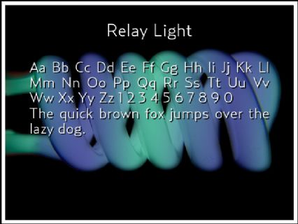 Relay Light Font Preview