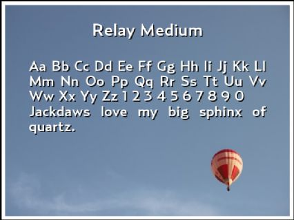 Relay Medium Font Preview