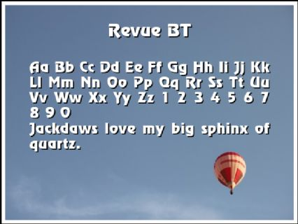 Revue BT Font Preview