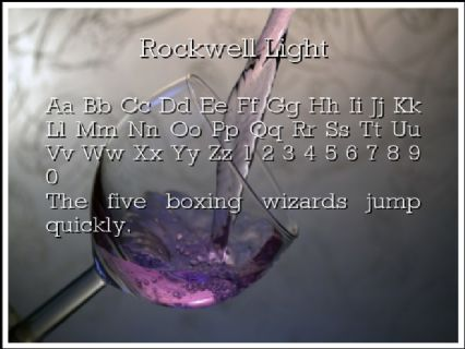 Rockwell Light Font Preview