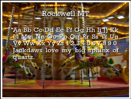 Rockwell MT Font Preview