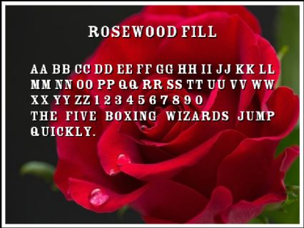 Rosewood Fill Font Preview