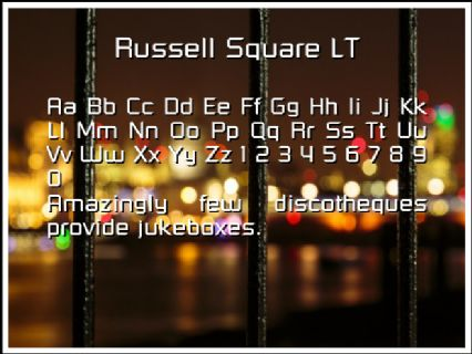 Russell Square LT Font Preview