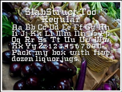 SlabStruct Too Regular Font Preview