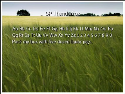 SP ThunderFox Font Preview