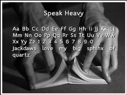 Speak Heavy Font Preview