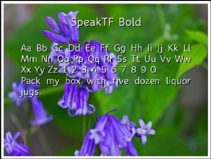 SpeakTF Bold Font Preview