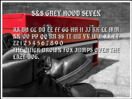 S&S Grey Hood Seven Font Preview