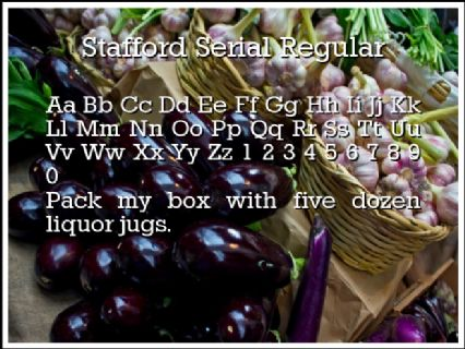 Stafford Serial Regular Font Preview