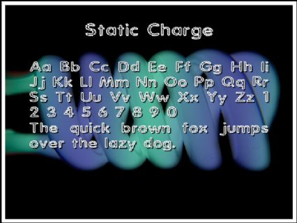 Static Charge Font Preview