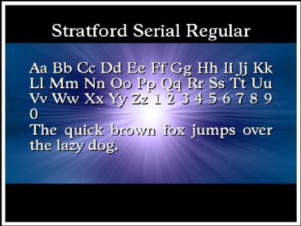 Stratford Serial Regular Font Preview