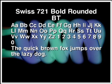 Swiss 721 Bold Rounded BT Font Preview