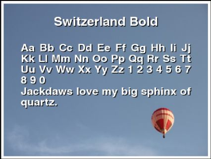 Switzerland Bold Font Preview