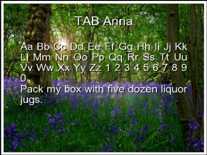 TAB Anna Font Preview