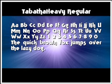 TabathaHeavy Regular Font Preview