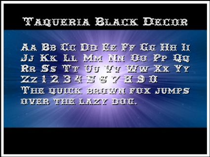 Taqueria Black Decor Font Preview