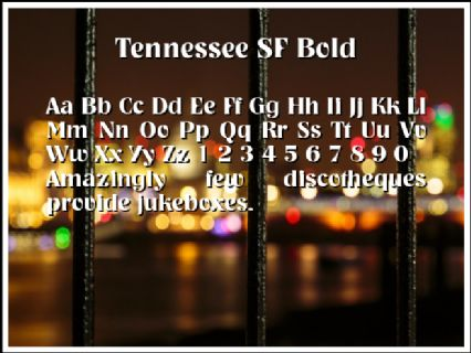 Tennessee SF Bold Font Preview