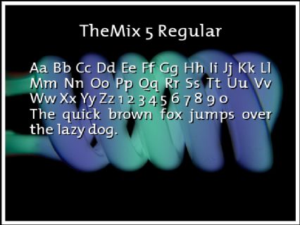 TheMix 5 Regular Font Preview