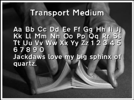 Transport Medium Font