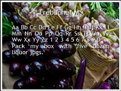 Trebuchet MS Font Preview