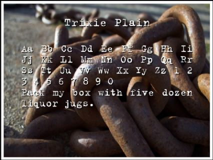 Trixie Plain Font Preview