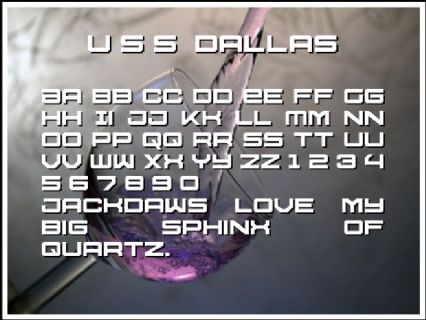 U S S  Dallas Font Preview