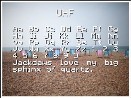 UHF Font Preview