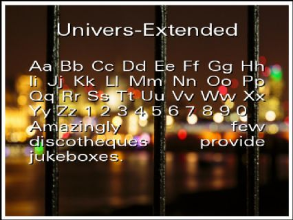 Univers-Extended Font