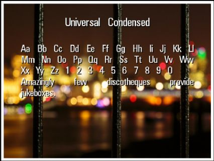 Universal Condensed Font Preview