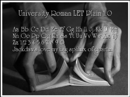University Roman LET Plain 1.0 Font Preview