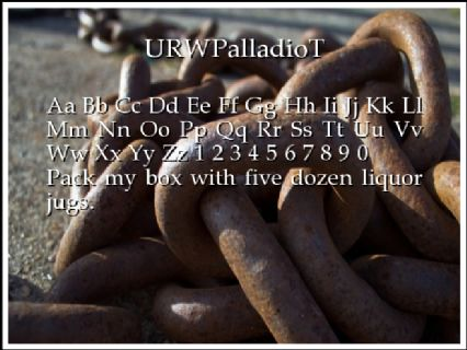 URWPalladioT Font Preview
