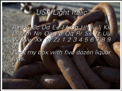 USA Light Italic Font Preview
