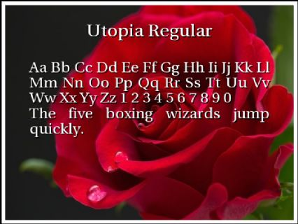 Utopia Regular Font Preview