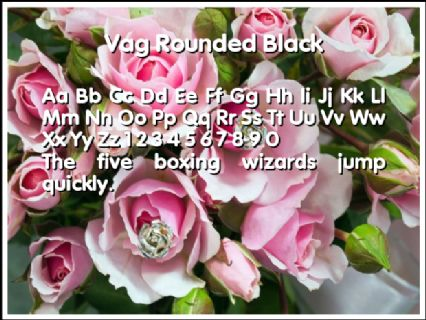 Vag Rounded Black Font Preview