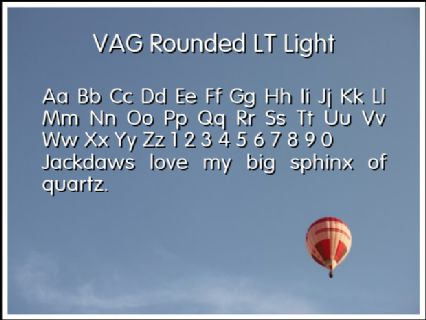 VAG Rounded LT Light Font Preview