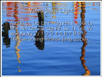Volvo Sans Light Font Preview